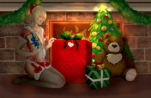 [YCH] Holiday ~ sabbybina by Qu-Ross