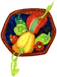 Peppers: Color by AnilaStar