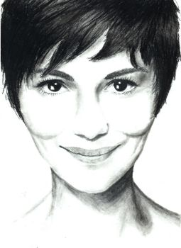 Audrey Tautou--in progress by TurquoiseCat