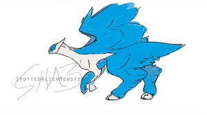 Doodle - Latios by SpottedAlienMonster