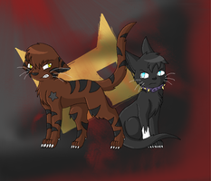 Tigerstar and Scourge by TwilightTheEevee
