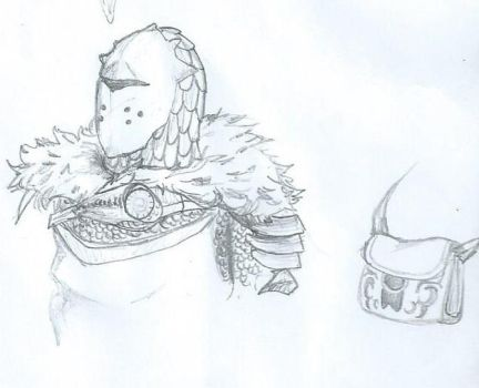 Knight sketch by Malaurielle
