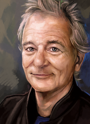Bill Murray Speed Paint Study by charfade