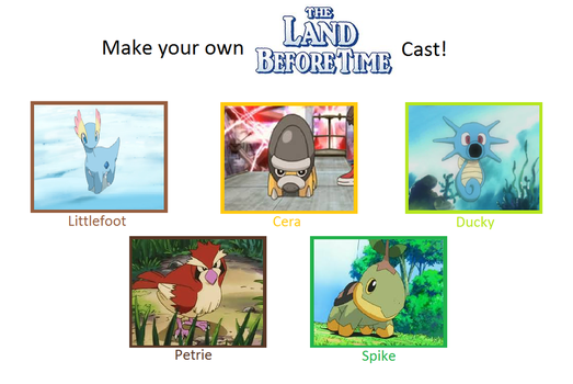Pokemon Land Before Time Cast by DEEcat98