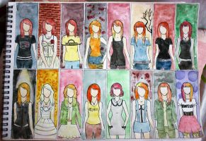 Hayley MV Outfits by silverinne