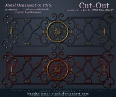 Metal Ornament 01 Cut-Out PNG PREMIUM by kuschelirmel-stock
