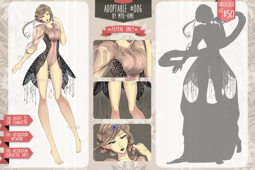 [OPEN] - Adoptable #006 by Myu-Hime