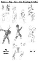 Toons on Tap - Korra Life Drawing Sketches by SuperSparkplug