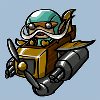 Dota Fanart v2 - Gyrocopter by KidneyShake