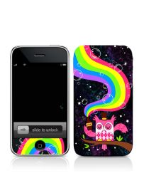 Drink the Rainbow Iphone Skin by fuish