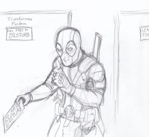 Day of the Moose 2016 #5: Dangit Deadpool! by ConstantScribbles
