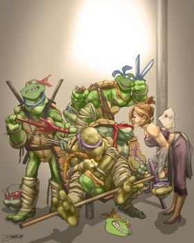 Turtles Trick or Treat! by daguillo84