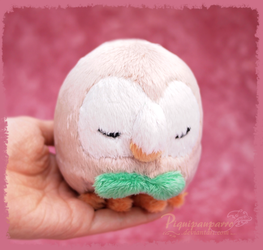 Rowlet - Sun and Moon starter - Handmade plush by Piquipauparro