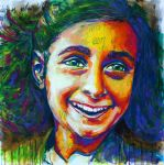 Anne Frank Portrait by Olilolly11