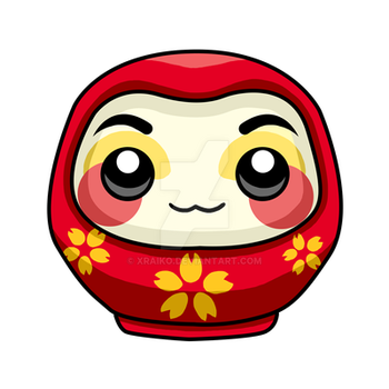 Commission: Daruma Mascot by xraiko