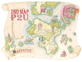 Whimsical Country Map for Game Masters - P2U by ZoraSpringer