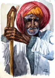 Old Man from Rajasthan by Dulliros