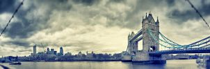 London City and Tower Bridge by awropa