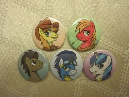 Dude Pony Buttons by johnjoseco