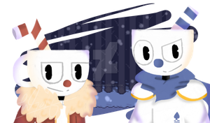 CupheadTale (Request) by ItzMeViolet