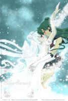 New Year Serenity and Sailor Pluto by SilverSerenity1983