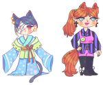adopts: catty ladies | 1/2 open by eggcellentegg