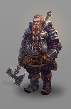Dwarf War Counselor by Kolosova-Art