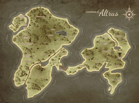 Map of Altrus by AltrusContinent
