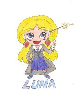 Luna Lovegood - crayon color by Shi-san1987