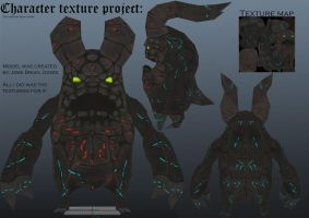 demon character texture project by seangore