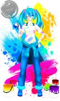 MIKU : PAINT THE BLANK by MRinkuChan