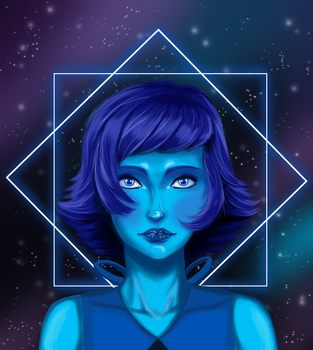 Lapis Lazuli space portrait by justthebutts