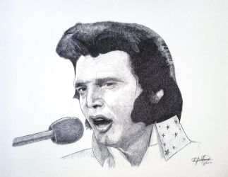 Elvis Presley The King of Rock by OMKDrawings