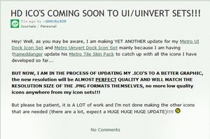 HD ICO's Coming Soon to my Metro UI/Uinvert Sets!! by dAKirby309