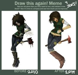 Draw this again - 4 years of improvement! by BatchZombie