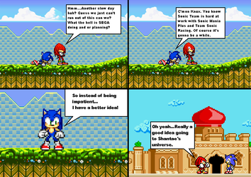 .:SONIC THE HEDGEHOG:. Behind the scenes by Implosion-Explosion