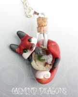 Marimo moss ball bottle fox by carmendee