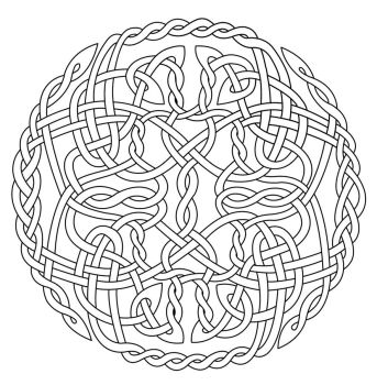 celtic circle x coloring by artistfire - Celtic Coloring Book