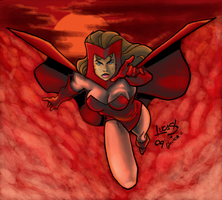 Scarlet Witch ORIGINAL COLORED by LucasAckerman
