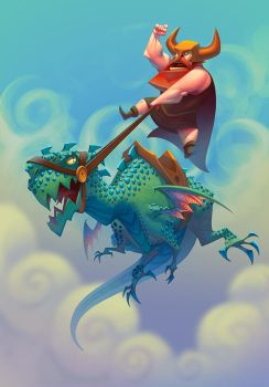 Dragon Rider by NickNP