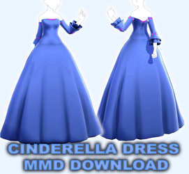Cinderella Princess Dress (MMD DOWNLOAD) by VanillaBear3600