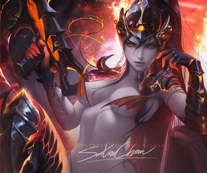 Destroyer Widowmaker . Nsfw Preview. by sakimichan