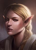Elf portrait by RogierB