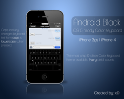 iPhone Android Black Color Keyboard by D-vn