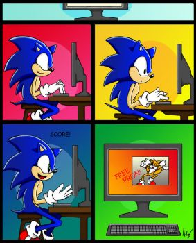Sonic computer by BlueHedgehogSonic