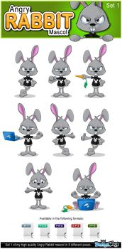Angry Rabbit Mascot - Set 1 by Npr1977