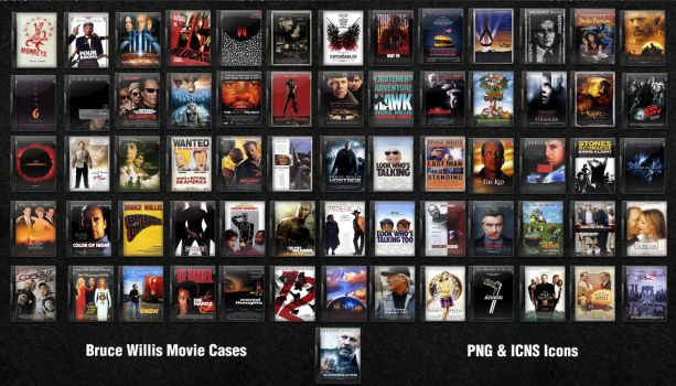 Bruce Willis DVD Movie Icons by fruit4dinner