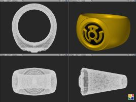 Sinestro Corps Ring CAD Files by JeremyMallin