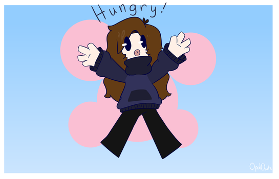 Hungry Meme Frame Thing... by OpalOwls