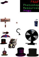 FNaF Photoshop Resources: Props v.2 by A-Battery